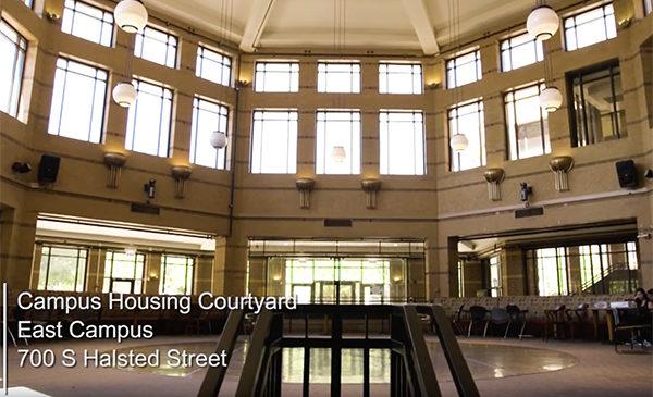 Campus Housing Courtyard